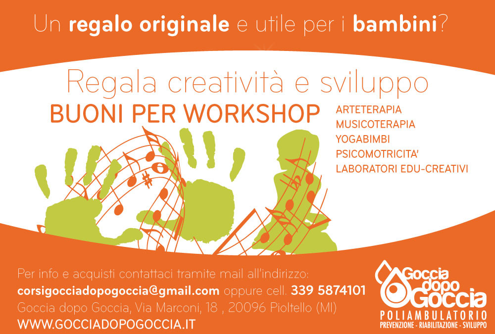 IDEE REGALO: BUONI PER WORKSHOP